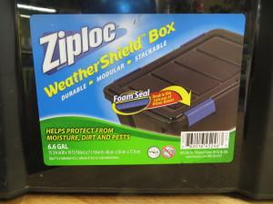 Ziploc worm bins