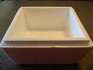 Cheap Worm Bins - Styrofoam box