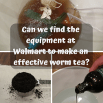 Making Worm Tea At Home bucket and equopment to brew worm tea.