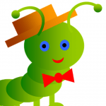 Vermicomposting For Kids graphic green worm.