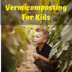 Vermicomposting For Kids small boy in a sunflower field.