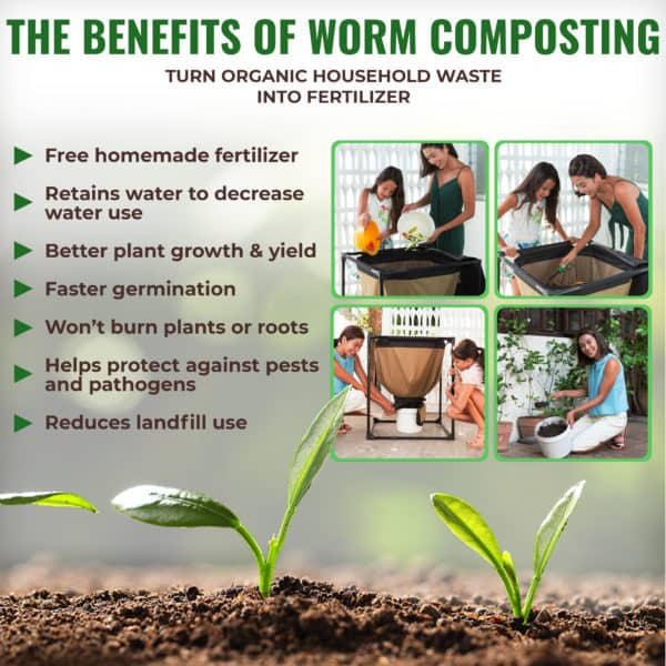 Urban Worm Bag benefits of vermicomposting.