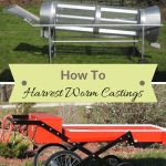 How To Harvest Worm Castings trommel and Brockwood worm shifter