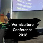 Vermiculture Conference 2018 Norman Aroncon speaking at the podium.