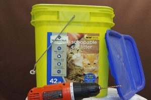How To Store Worm Castings Bucket and Drill 1