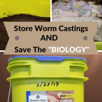 How To Store Worm Castings bucket with worm castings.