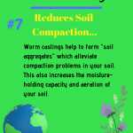 Benefits of Worm Castings reduces soil compaction