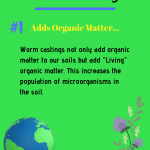 Benefits of Worm Castings Tip 1 Adds organic matter to your soil