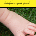 Worms In Lawn child barefoot in the grass