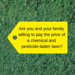 Worms in Lawn with a price tag