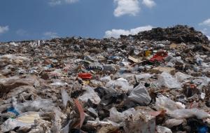 Landfill Waste pile of organic waste