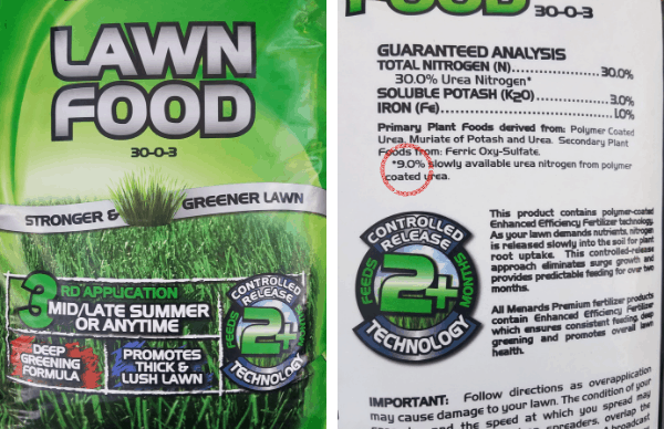 Fertilizer Bag Lawn fertilizer from Menards