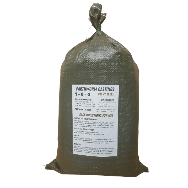 Earthworm Naturals Worm Castings 18 pound bag back