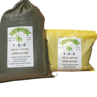 Earthworm Naturals Worm Castings in the bag.