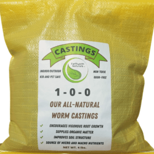 Earthworm Naturals Worm Castings 4 lb. Bag of