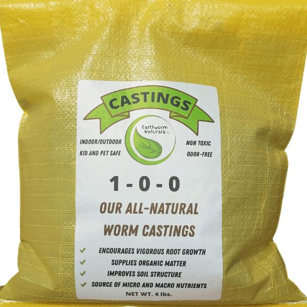 Earthworm Naturals Worm Castings 4 lb. Bag of