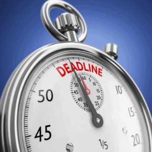 Stopwatch with a deadline.